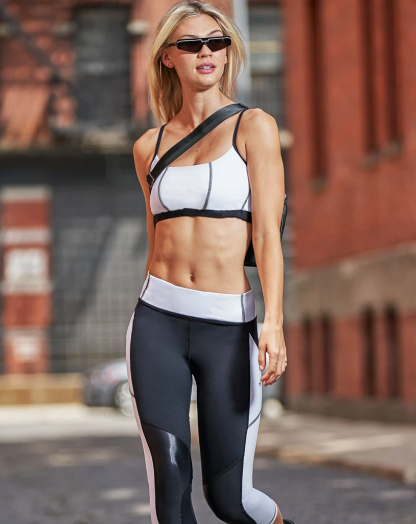 Model wearing CBD activewear