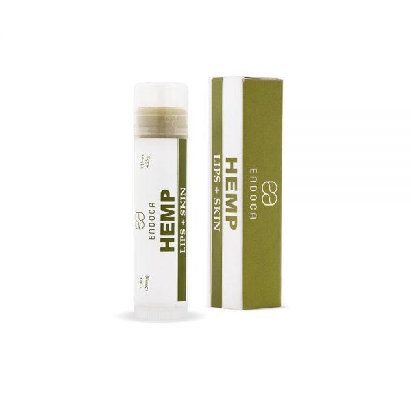 Endocannabinoid hemp-infused lip balm