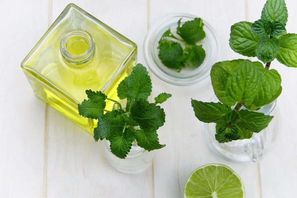 Herbs and oil for cooking or medicine