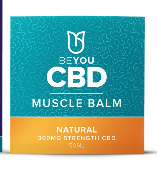A tub of CBD muscle balm from BEYOU