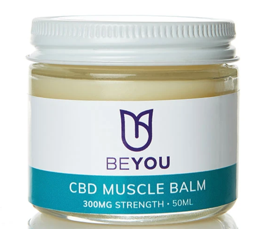 A jar of CBD muscle balm from Beyou