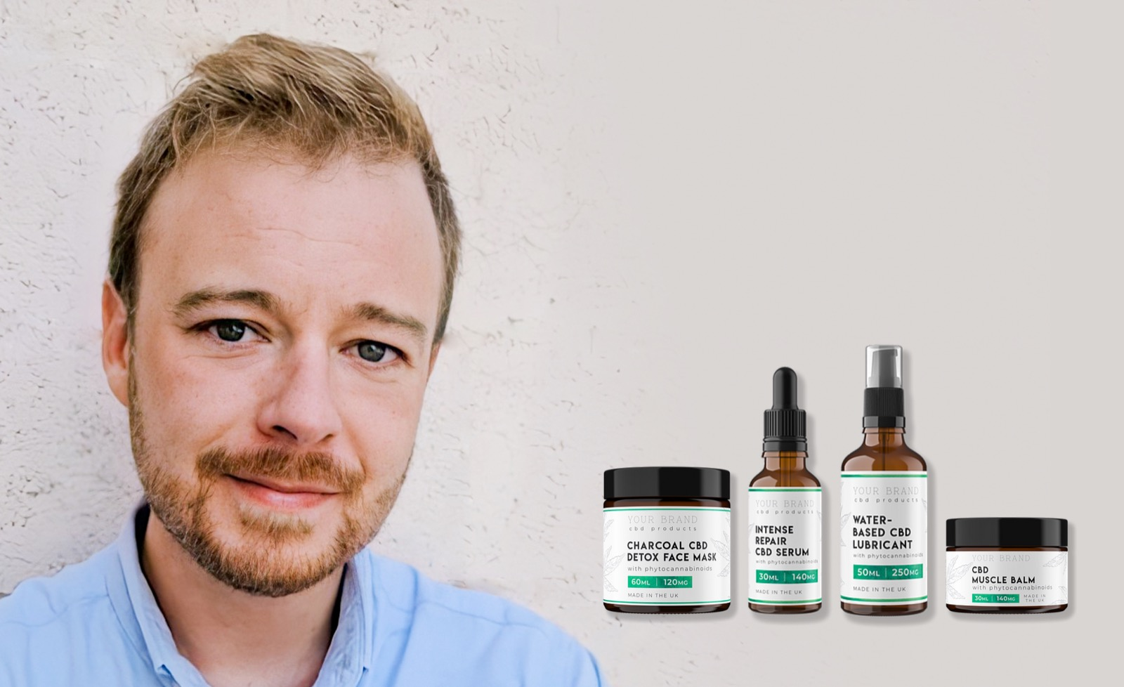 Rick with CBD products